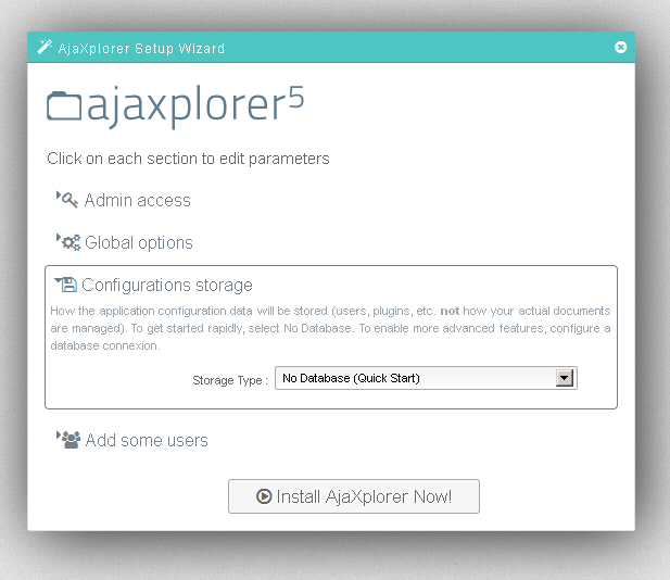 Evolution Hosting AjaXplorer(AjaXplorer) Installation